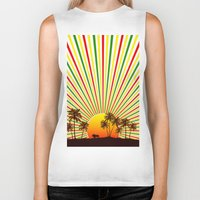 reggae Biker Tanks featuring Sunshine Reggae by A-Devine