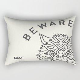 Beware of the Wolves (black) Rectangular Pillow