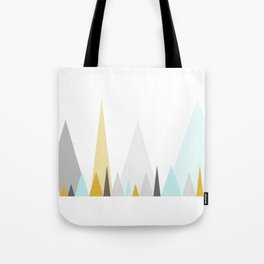 Geometric triangles in mustard and mint Tote Bag