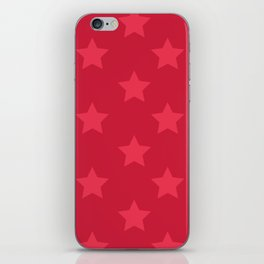 Red stars iPhone Skin