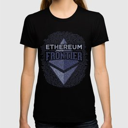 Ethereum Frontier Grunge original on dark blue T-shirt