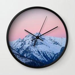 Pinkish sky Wall Clock