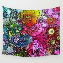 Abstract Floral 2 Wall Tapestry