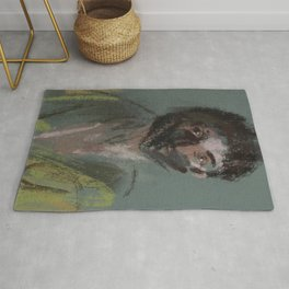 Cloaked Wanderer Painting Portrait Rug