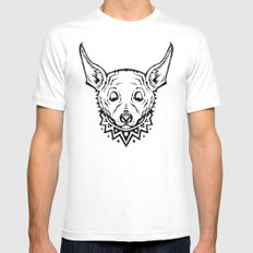 Chihuahua Party Mens Fitted Tee MEDIUM White