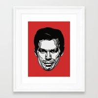 dexter Framed Art Prints featuring Dexter by Dylan Morang