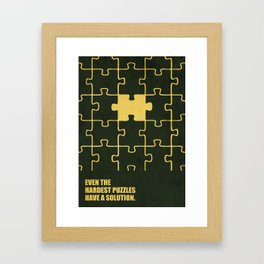 Lab No. 4 -Even The Hardest Puzzles Have A Solution Corporate Start-Up Quotes Framed Art Print