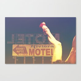 Riviera Motel on Route 66 Canvas Print
