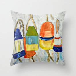 Lobster Buoys Throw Pillow