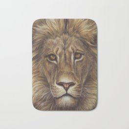 Animals | Lion Portrait | Nature | Painting | Art Bath Mat