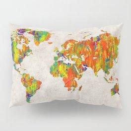 World Map 40 Pillow Sham