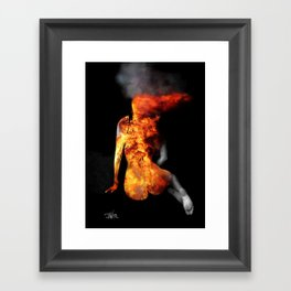 INNER FLAME Framed Art Print