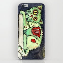 zombie cat on the wall iPhone Skin