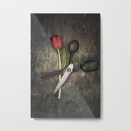 tulip and scissors Metal Print