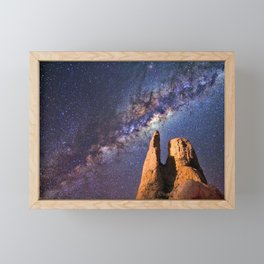 Night sky iii - galaxy Framed Mini Art Print