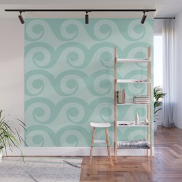 Retro Pastel Waves Wall Mural