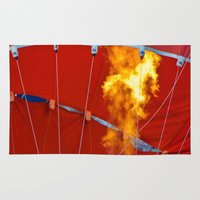 hot air balloons Area & Throw Rugs featuring Hot Air Balloons  by Cornish Seascapes