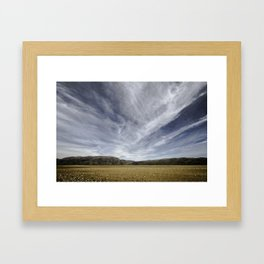 the road to queenstown, south island, new zealand Framed Art Print