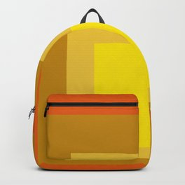Block Colors - Yellow Gold Orange Backpack
