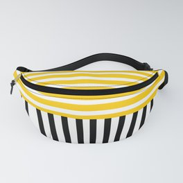 Yellow and black stripes Fanny Pack