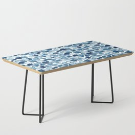 Blue Abstract Watercolor Coffee Table