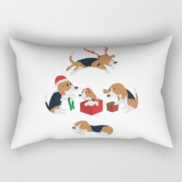 Beagle christmas Rectangular Pillow