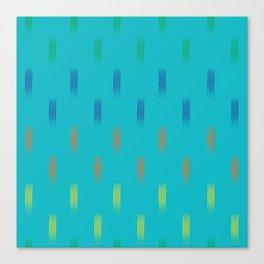 Lines rainbow on turquoise Canvas Print