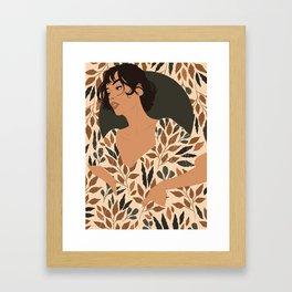 Fall Lover (Beige) Framed Art Print