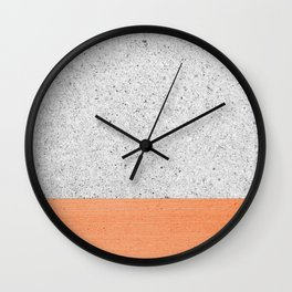 Orange Concrete Minimalism #decor #society6 Wall Clock