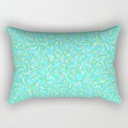 Boomerang Aqua Rectangular Pillow