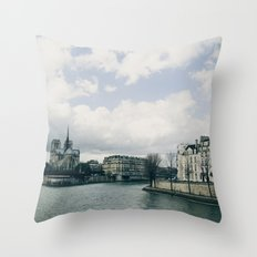 And the river flows Throw Pillow