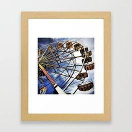 Vintage photo of ferris wheel Framed Art Print