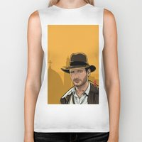 indiana jones Biker Tanks featuring Indiana by Akyanyme