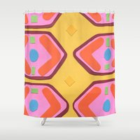 deco Shower Curtains featuring Deco by Hollis Campbell