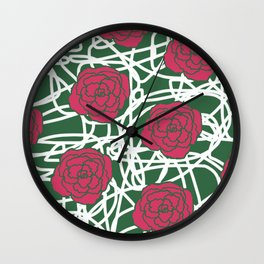 ROSE SQUIGGLE Wall Clock