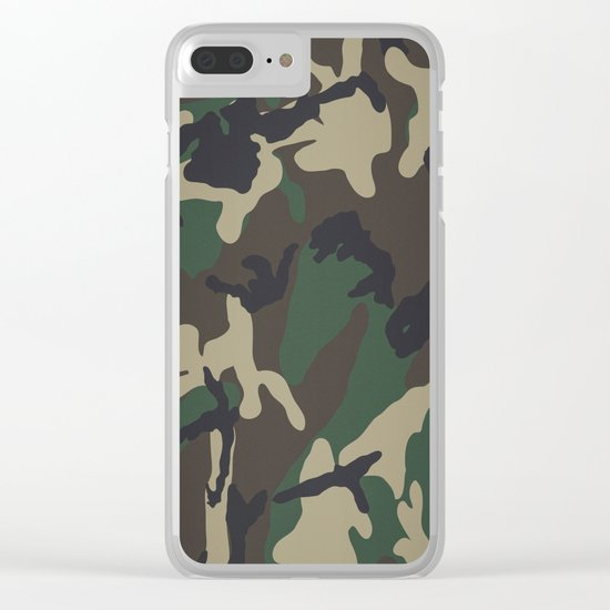 Camo Clear iPhone Case