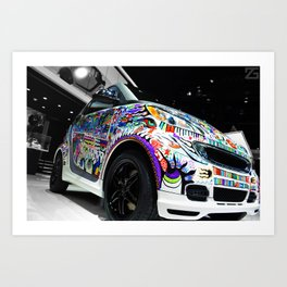 SmartCar Canvas Car. (2012 NAIAS) Art Print