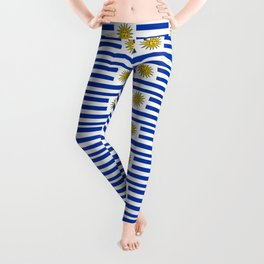 flag of Uruguay-Uruguyan,montevideo,spanish,america,latine,Salto,south america,paysandu,costa,sun Leggings