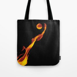 Let it fire to the moon - Fire sign - The Five Elements Tote Bag