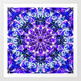 """Underwater Moonlight Mandala"" Art Print"