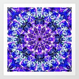 """Underwater Moonlight Mandala"" Art Print"