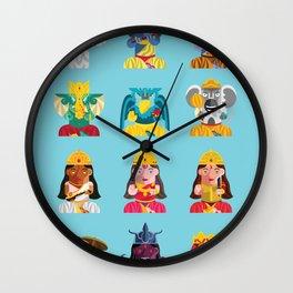 Indian Box Dolls Wall Clock