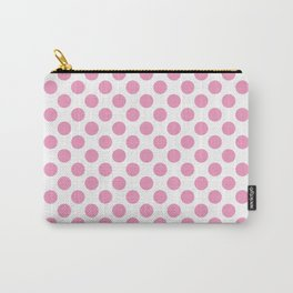 Light Pink Polka Dots Carry-All Pouch