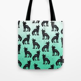 Grey Coyote Tote Bag
