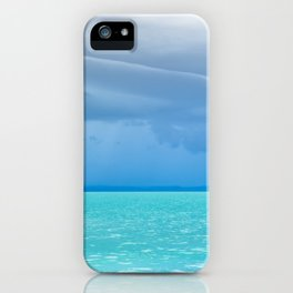 Before summer storm at a turquoise lake iPhone Case