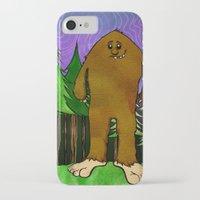 sasquatch iPhone & iPod Cases featuring Sasquatch by Michael Scott Murphy