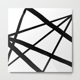 Star Diamond Line Abstract Metal Print