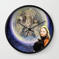 hocus pocus Wall Clocks featuring Hocus Pocus by grapeloverarts