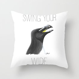 Swing Your Razorbill Wide Throw Pillow