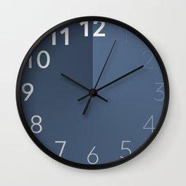 Blue Gradient Clock Face Wall Clock